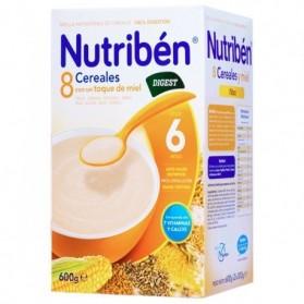 Nutriben 8 cereales con miel digest 600 g