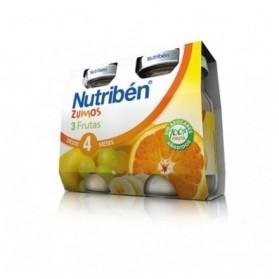 Nutriben zumo de 3 frutas 130 ml x 2 unidades