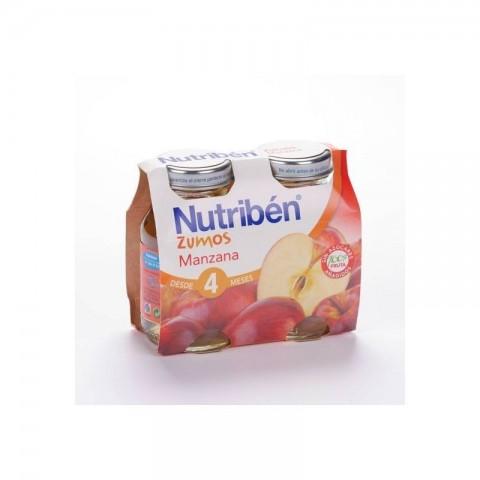 Nutriben zumo de manzana 130 ml x 2 unidades