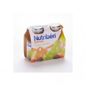 Nutriben zumo de frutas variadas 130 ml x 2 unidades