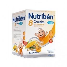 Nutriben 8 cereales con miel y leche adaptada 600 g
