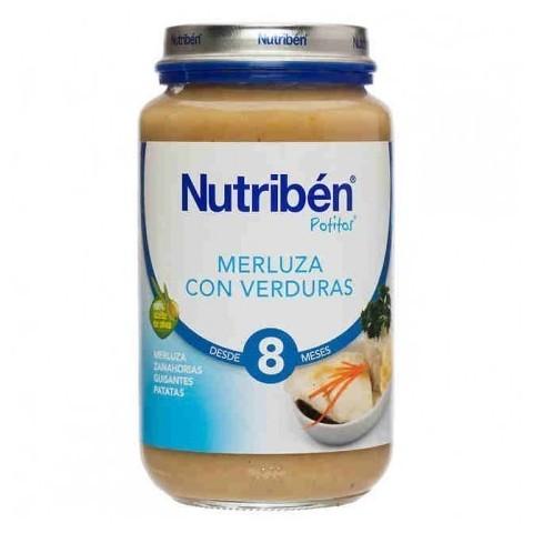 Nutriben merluza con verduras potito grandote 250 g