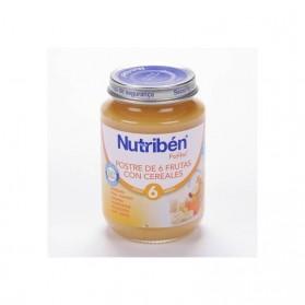 Nutriben postre de 6 frutas con cereales  potito junior 200 g