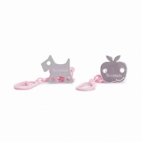 Suavinex broche de pinza rosa